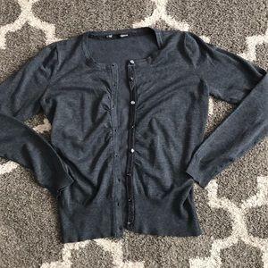 2/$15 Dark gray cardigan
